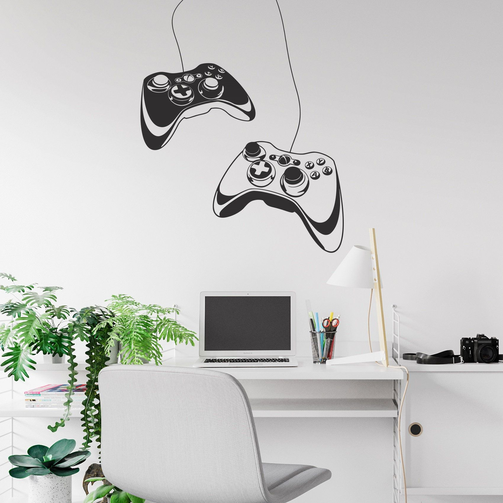 Gaming Controller Wall Decal - Xbox Game Controller Wall Sticker, Gamer Wall Decal, Video Games Wall Decal, Gamer Room Decor Boys Teens SB32