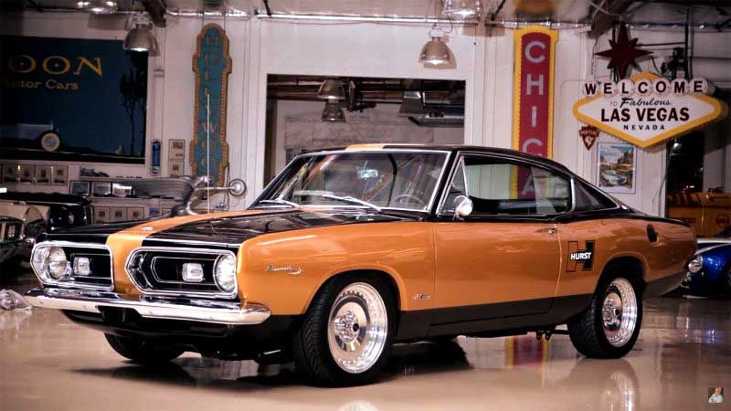 Jay Leno Examines The Old School Muscle Of A Hurst Barracuda