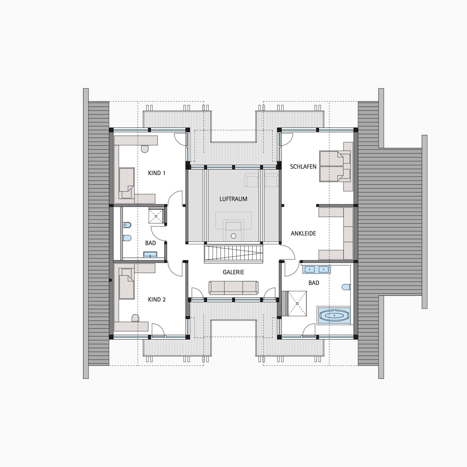 HUF Fachwerkhaus Grundriss Dachgeschoss ART 6 Haus