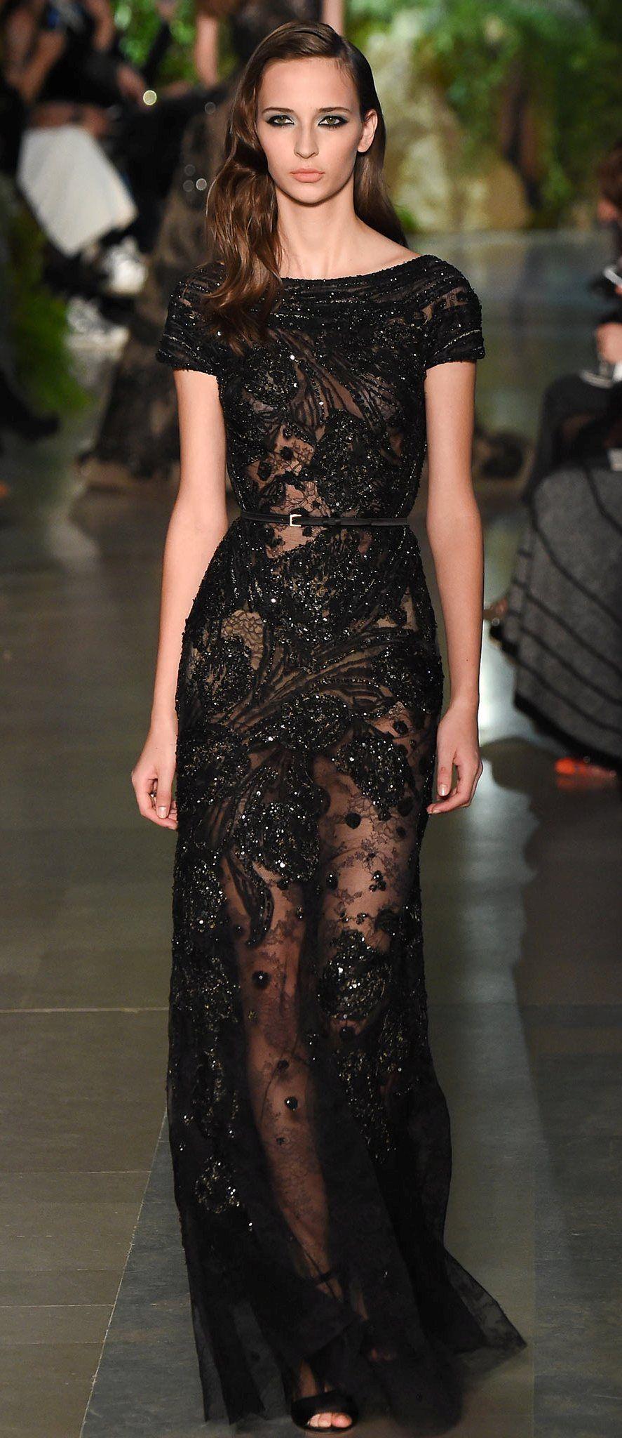 Ellie Saab Black Beaded Gown | Black tie/White tie | Pinterest ...