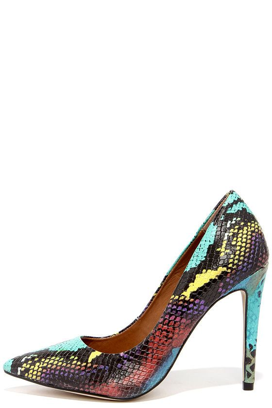 09cdd98cd75 Steve Madden Proto Multi Snake Pointed Pumps in 2019 | FASHION ...