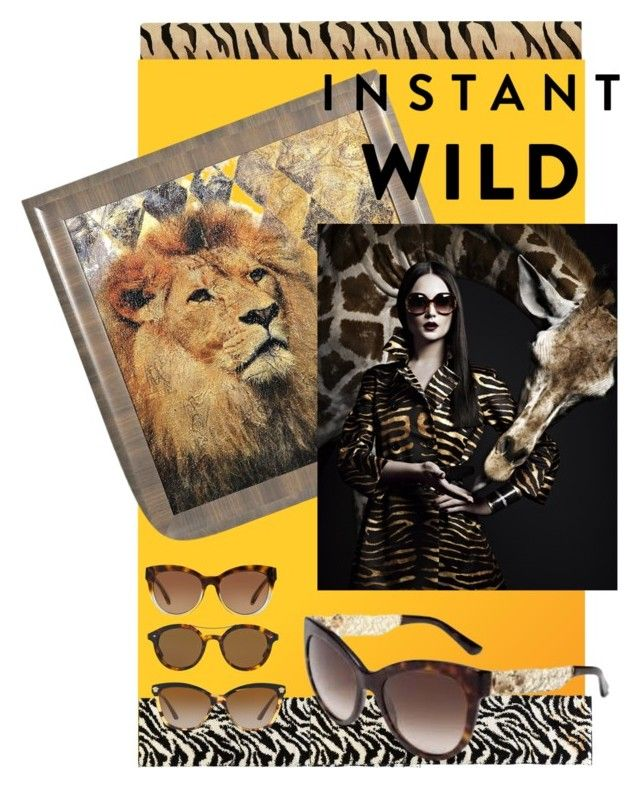 """""""Sunglass Hut : Contest Entry"""" by atie-212 ❤ liked on Polyvore featuring Liora Manné, Michael Kors, Giorgio Armani, Infinity Home, Versace and Dolce&Gabbana"""