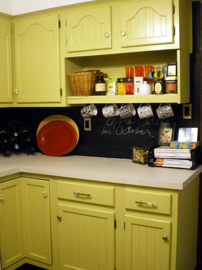 Chloe's Chartreuse Kitchen Room For Color North 48 Easy New Chalkboard Paint Backsplash Remodelling