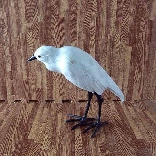 Simulation egret polyethylene&furs egret model funny gift about 25cmx11cmx30cm