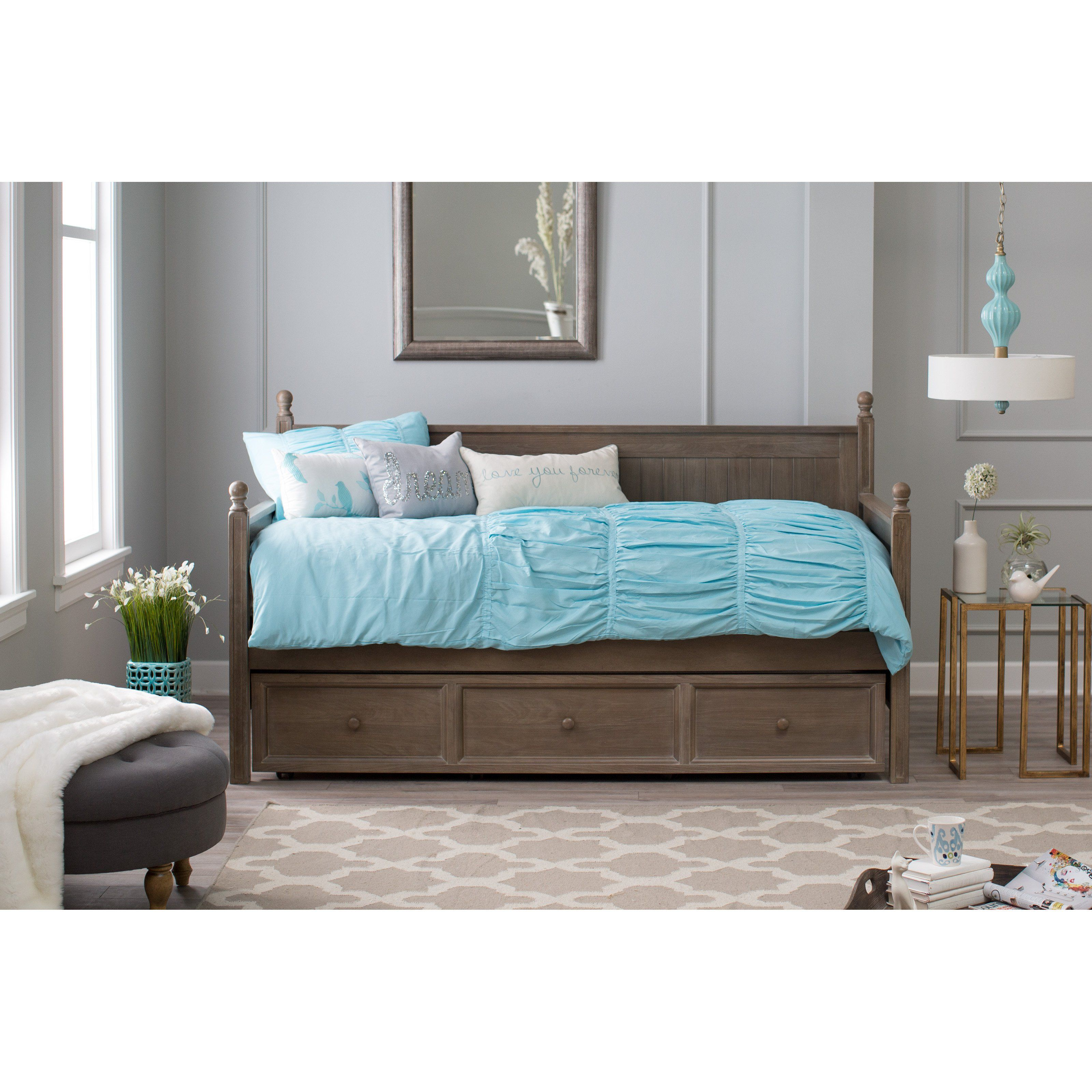 Belham Living Casey Daybed Washed Gray from hayneedle