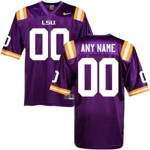 hot sale online 910eb 4dabf LSU Tigers Personalized Authentic Purple NCAA Jersey ...