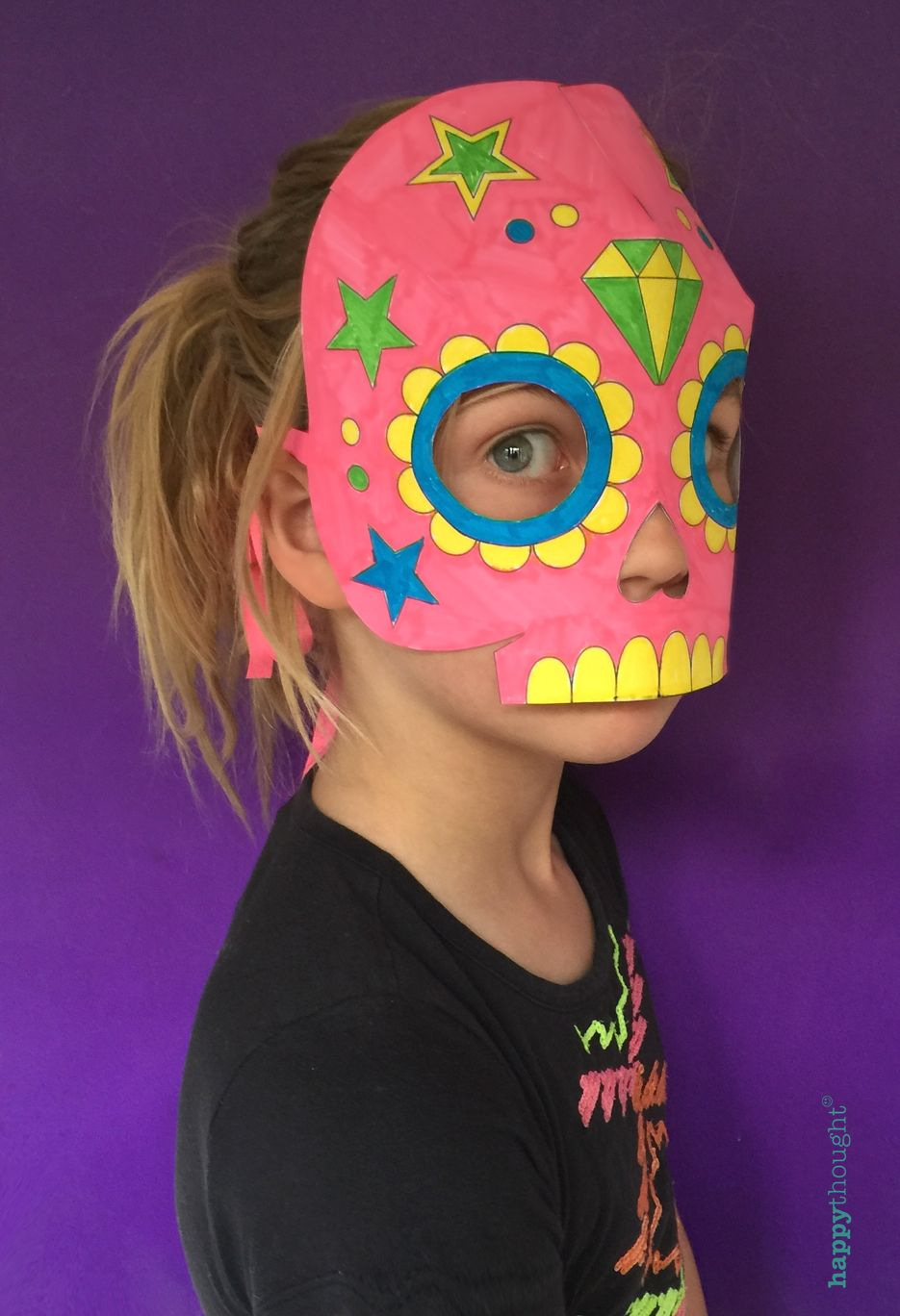 Color In Calavera Masks Activity Different Holidays Pinterest