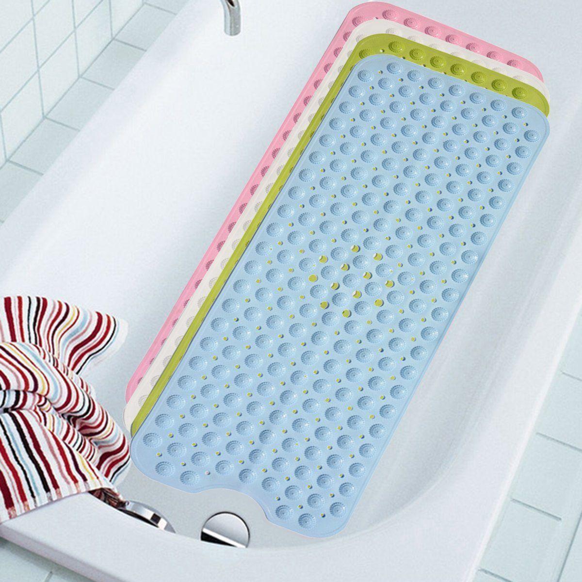 Antibacterial Cushioned Bath Tub Mat Non Anti Slip Safety Skid ...