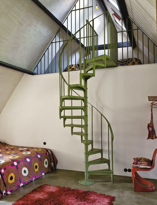 Great Vintage Spiral Staircase.
