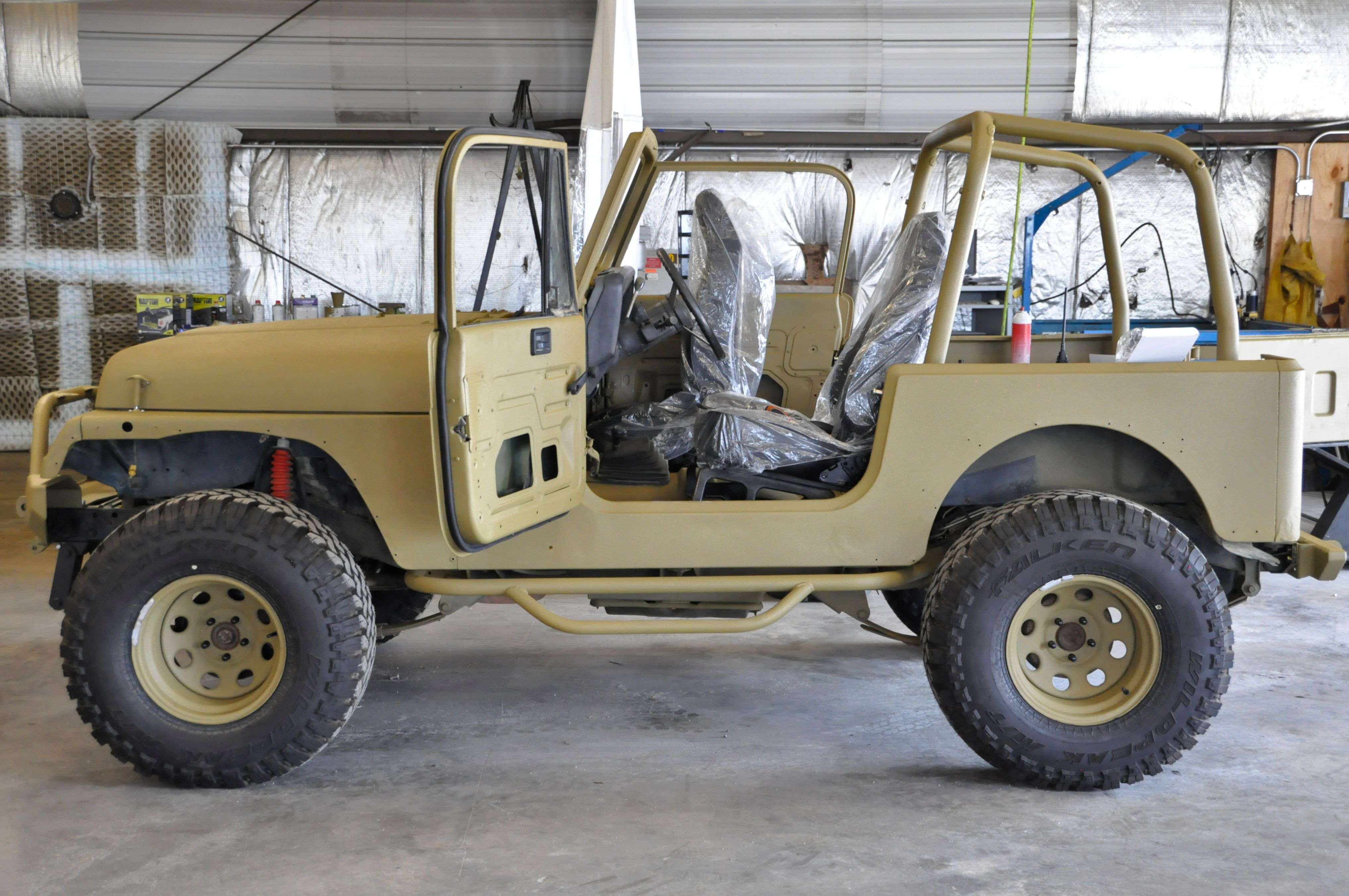 1994 Jeep Wrangler Yj Completely Redone In Army Green Tinted