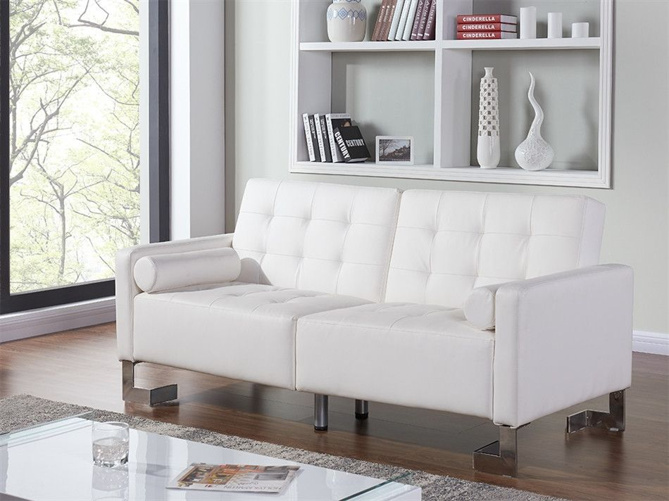 Casabianca Spezia White Eco-Leather Sofa Bed | Products, Beds And