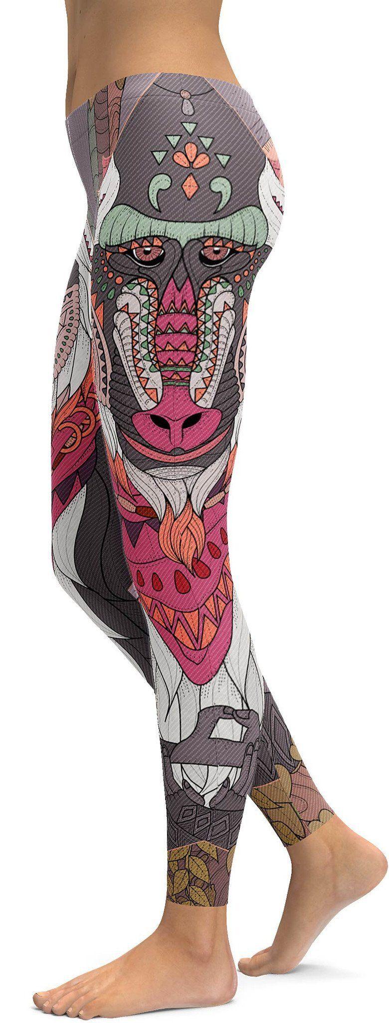 Rafiki Inspired Wise Baboon Yoga Leggings