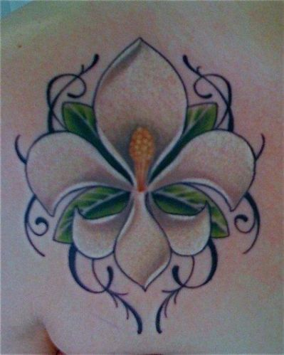 magnolia fleur de lis tattoo skin art pinterest. Black Bedroom Furniture Sets. Home Design Ideas