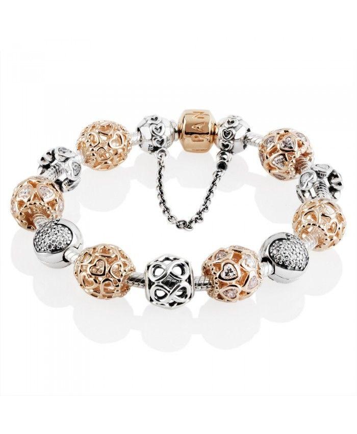 Black Friday Pandora Rose Sweetheart Complete Bracelet Clearance Sale Pandora Bracelets Pandora Pandora Rose