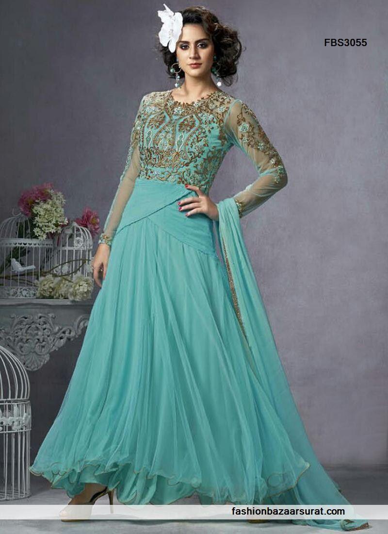 Turquoise Wedding Wear Net Suit   Buy Indian Salwar Suits Online for ...