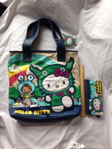 d25f86476 Loungefly Hello Kitty Sanrio Monster Tote Bag & Wallet NEW | Hello ...