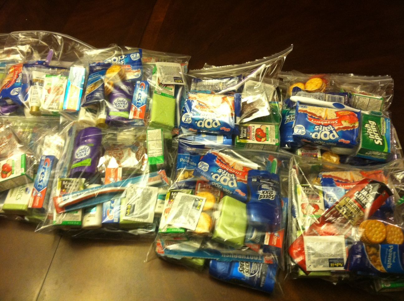 Blessing Bags! I make these to take to the soup kitchen at