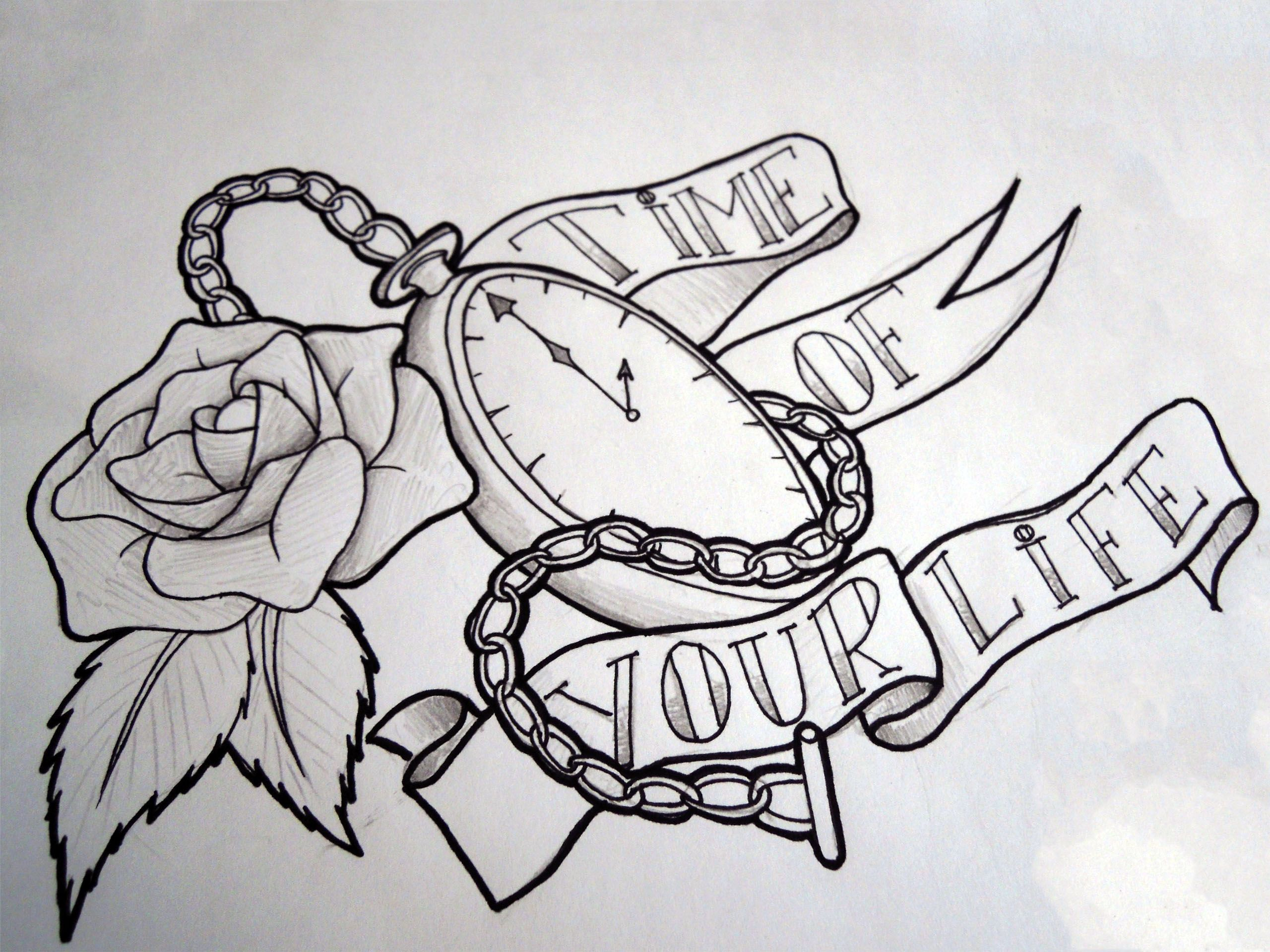 Pocket watch tattoo sketch  Pocket-Watch-Tattoo with scroll | Tats | Pinterest | Pocket watch ...