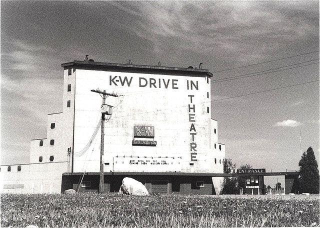 K W Drive In Theatre Bridgeport Kitchener Ontario With Images