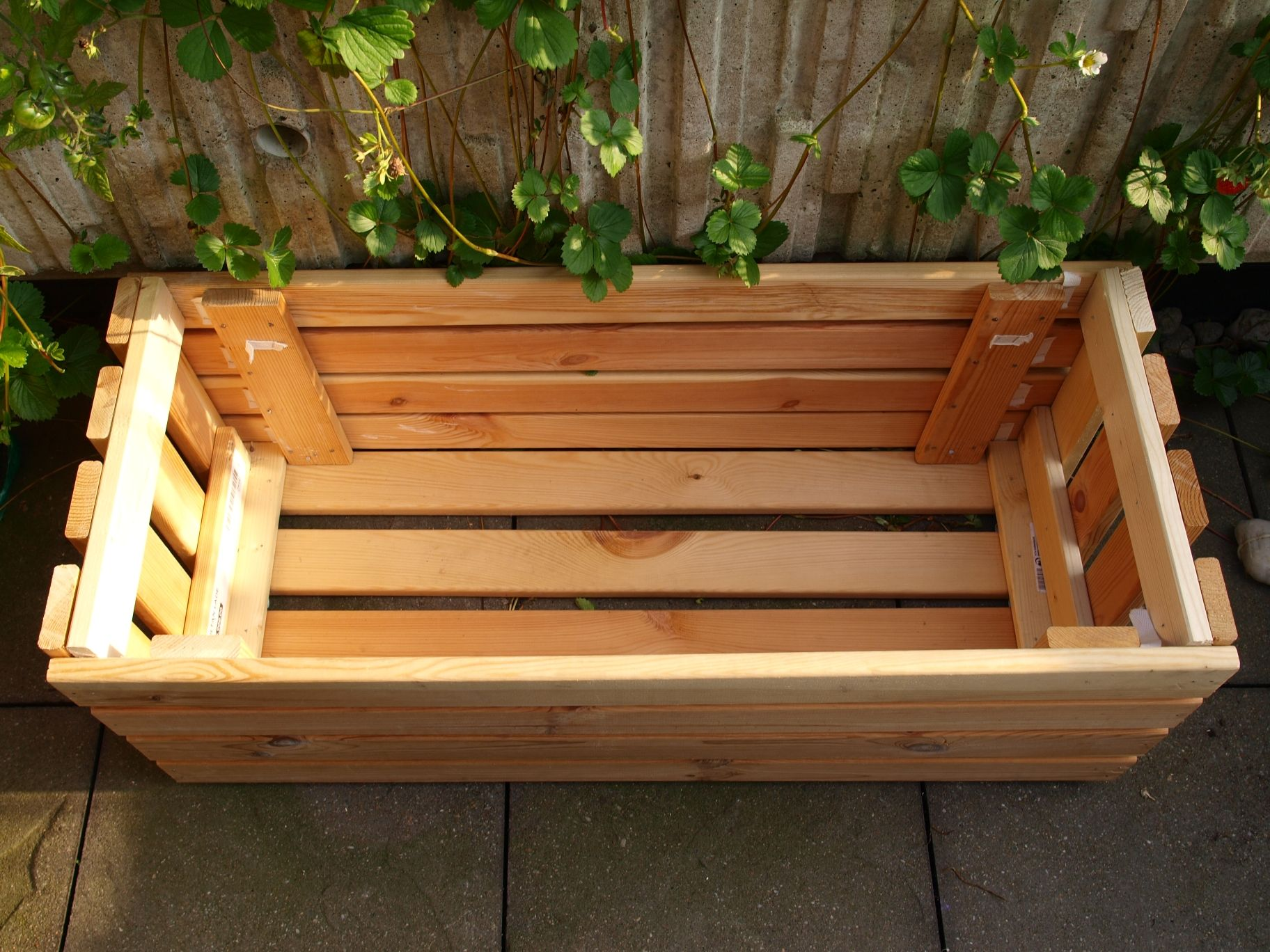 Upcycle Making a Planter From Bed Frame Slats Bed slats
