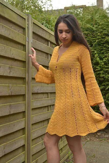 Pin de Amera Yosri en Crochet dresses | Pinterest | Vestidos tejidos ...