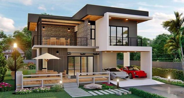 Jaw Dropping Double Storey House Plan Myhomemyzone Com In 2020 Double Storey House Plans Double Storey House Kerala House Design