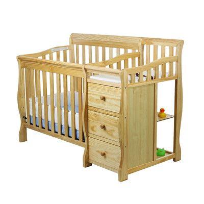 Dream On Me Jayden 4 In 1 Convertible Mini Crib Finish Natural Baby Cribs Convertible Mini Crib Cribs