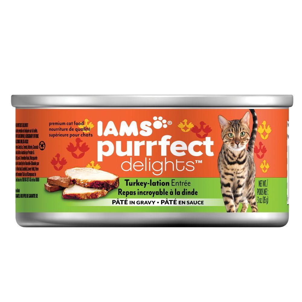 Iams Purrfect Delight Cat Food size 3 Oz, Turkey, Paté