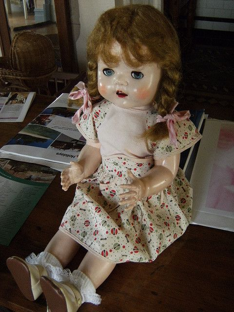Pedigree Doll Circa 1949. This is my Annabelle but with hair! Shh, don't tell anyone but I've just bought one on ebay. Reunited after nearly 60 years!