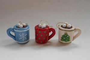 Cute- Hot Coco mug ornaments!