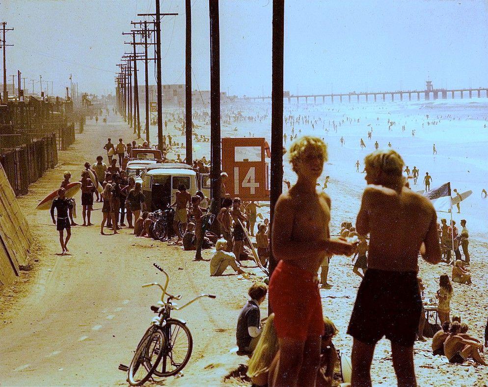 Surfers At Surf City Huntington Beach California California In