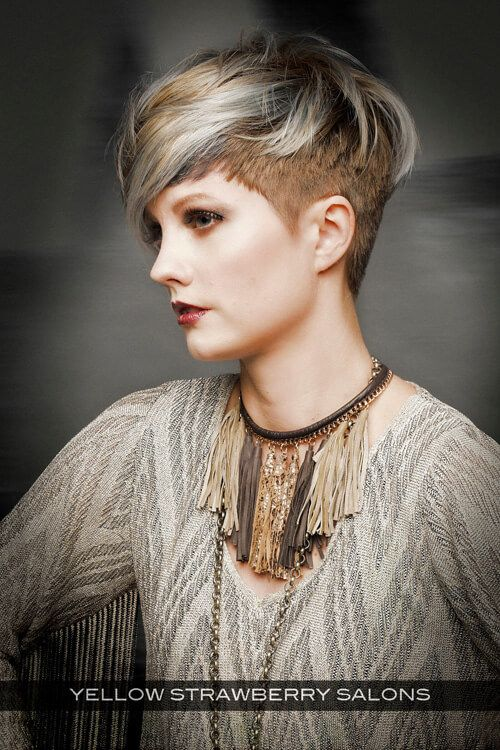 Cropped Hairstyle with Halo Fringe Side