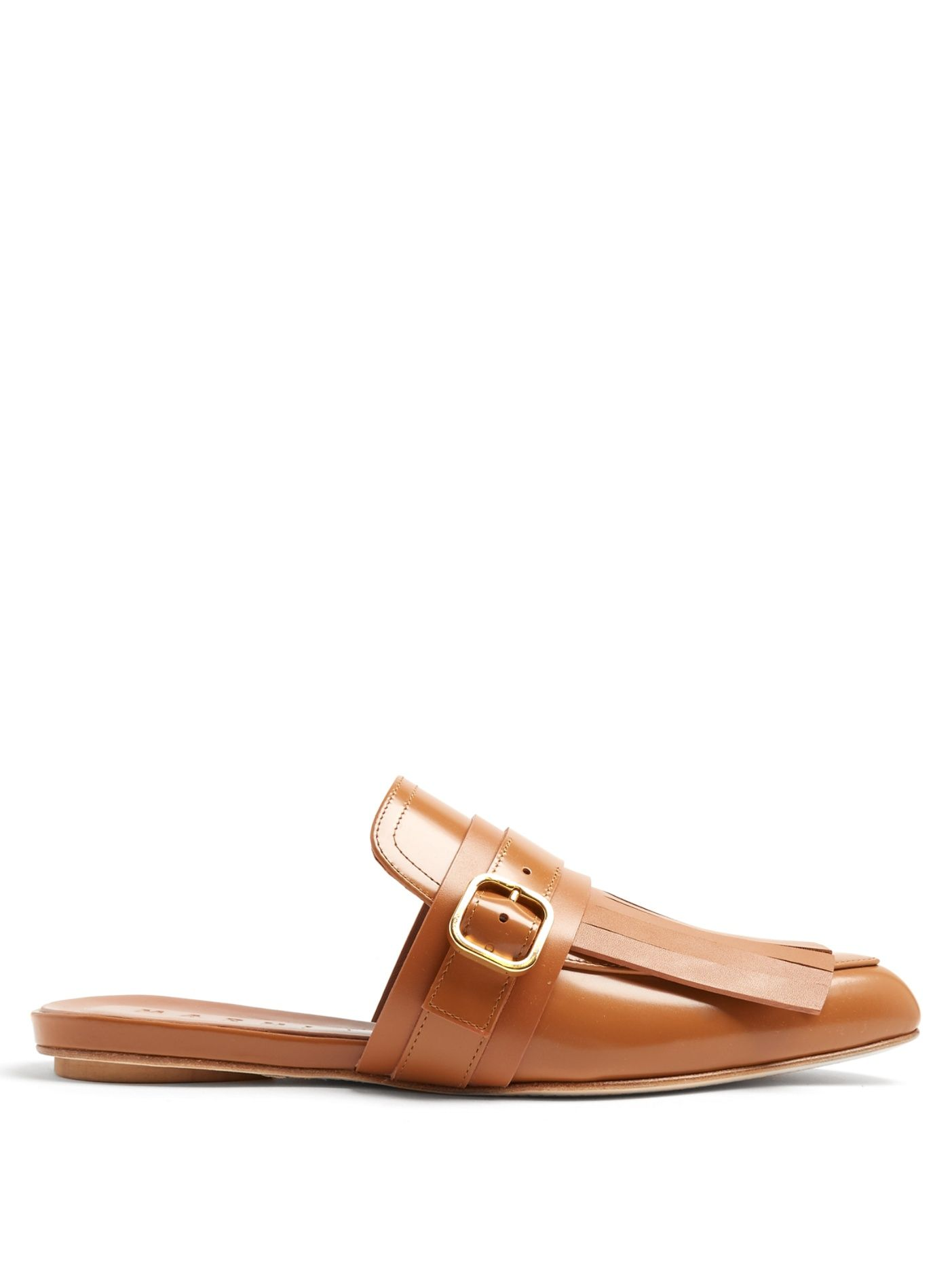 Click here to buy Marni Fringed backless loafers at MATCHESFASHION.COM