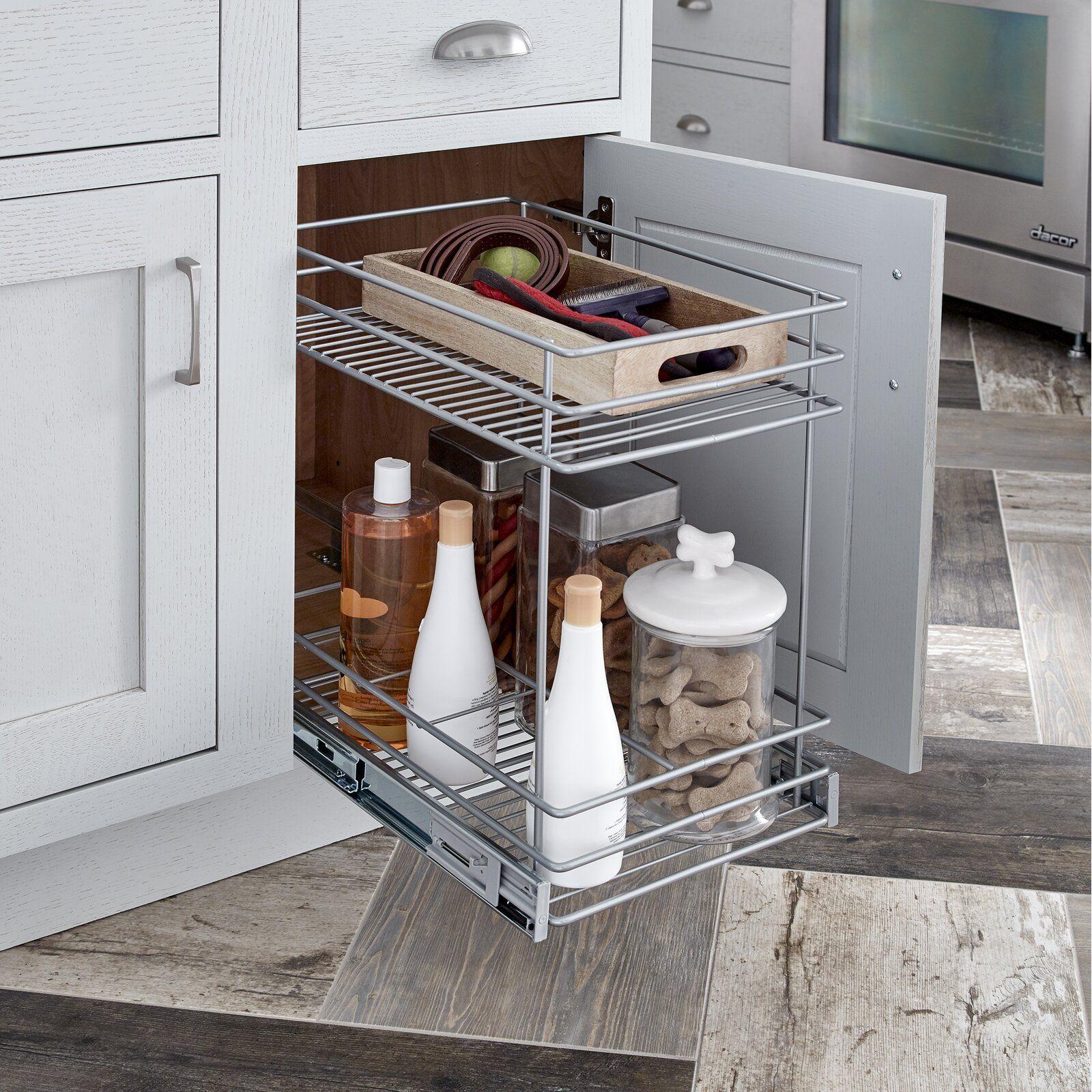 2 Tier Kitchen Cabinet Pull Out Drawer In 2021 Cabinets Organization Beautiful Kitchen Cabinets Diy Kitchen Storage