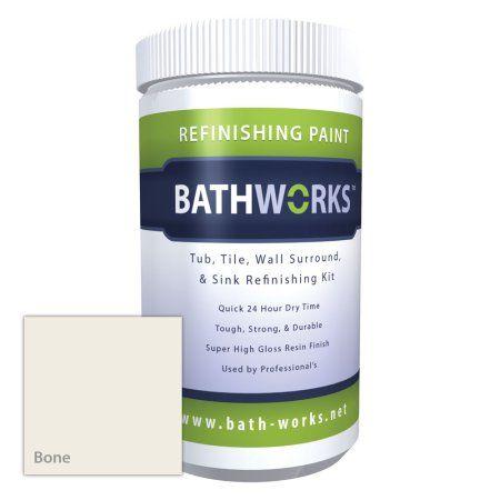 Bathworks DIY Bathtub & Tile Refinishing Kit W/ Non-Slip Protection