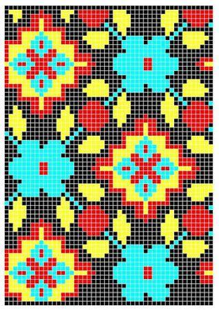 Картинка | tapestry crochet | Pinterest | Muster stricken, Gehäkelte ...