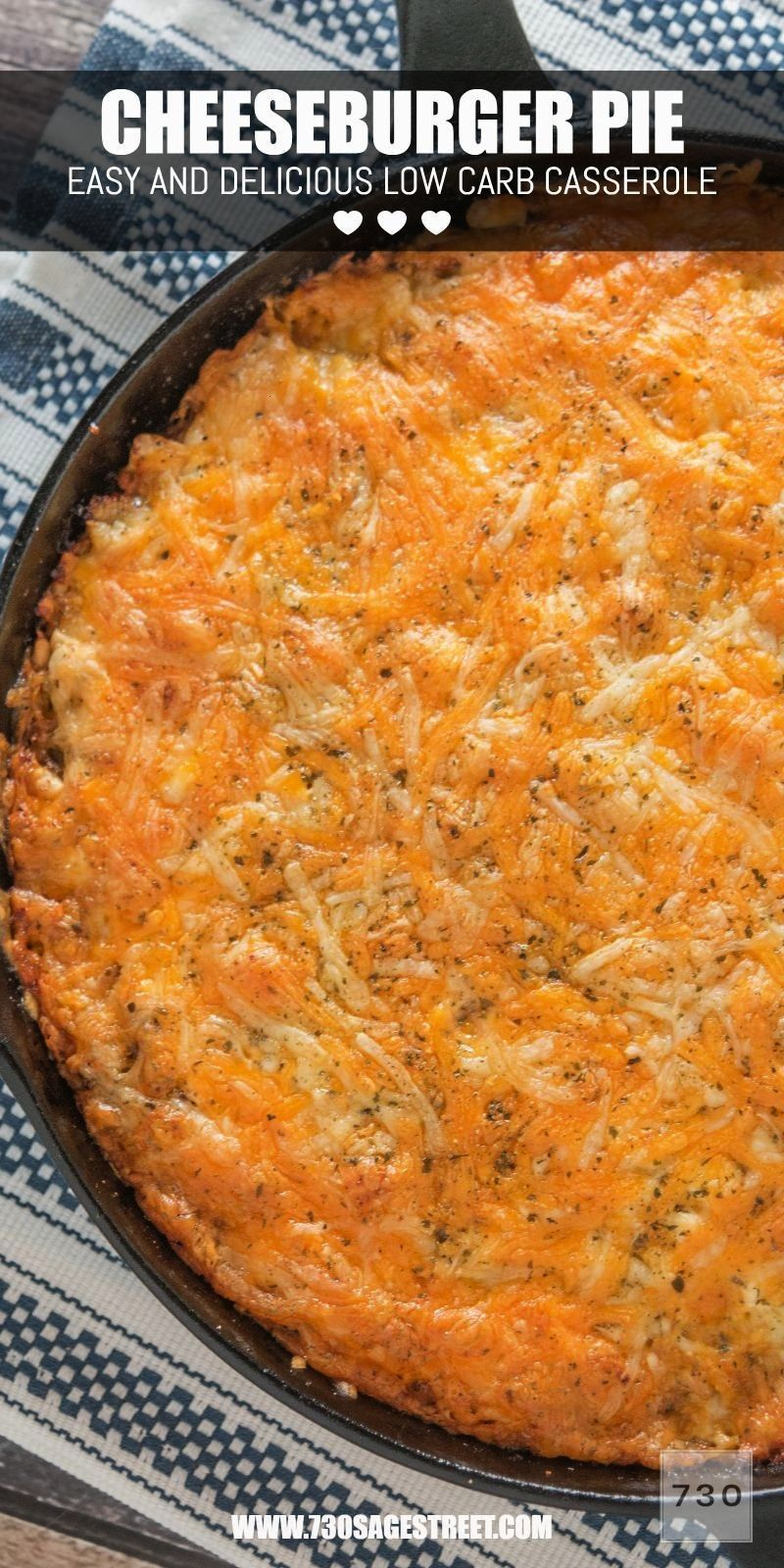 will love this low carb and keto friendly casserole that I call a cheeseburger pie! It's so good.Yo
