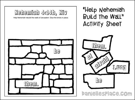 Nehemiah Activity Sheet for Younger Children from www