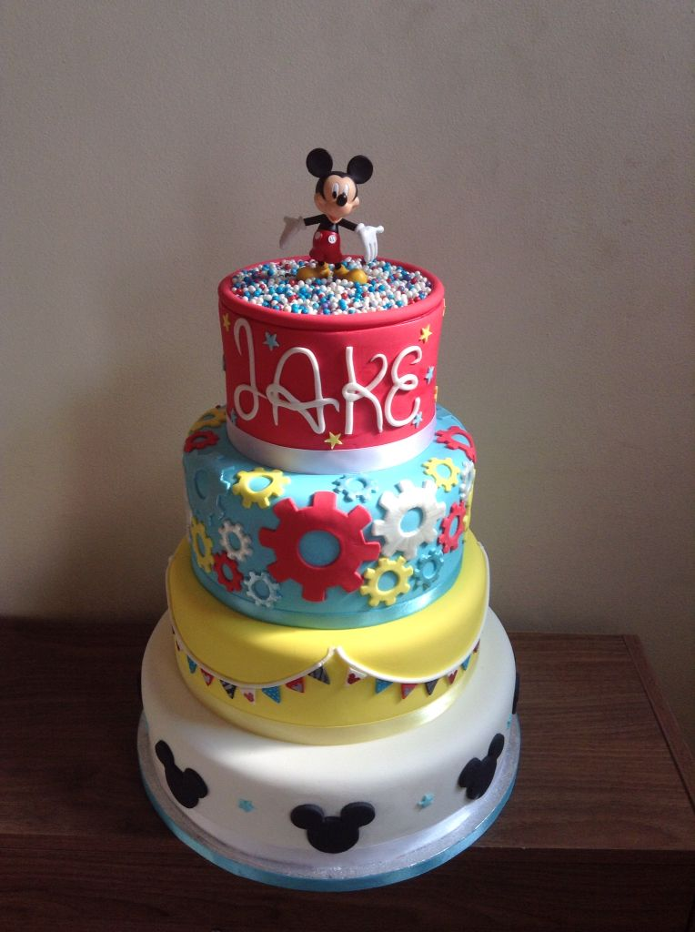 A Large Mickey Mouse Themed Cake For My Beautiful Boys 2nd Birthday