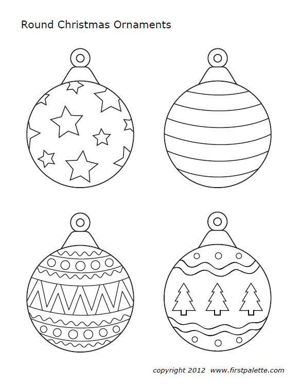 Ornaments Christmas Tree Coloring Page Christmas Ornament Template Printable Christmas Coloring Pages