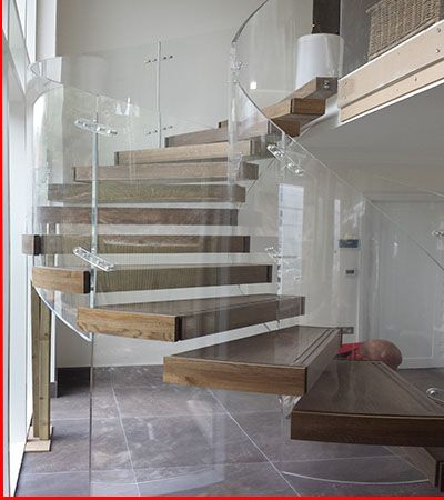 Superior Glass Stairs, Spiral Staircases, Glass Stair Company,Bespoke Staircases