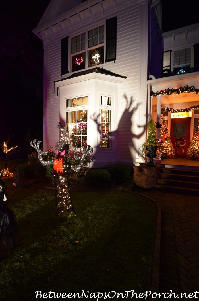 Visit Marie\u0027s Victorian Home Decorated and Lit for Halloween Scary - halloween decorations at home