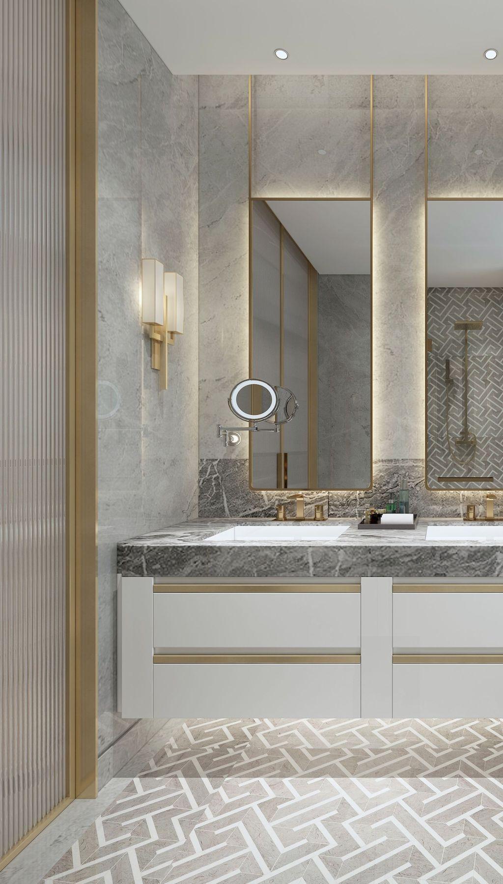 75 Best Inspire Bathroom Tile Pattern Design Ideas Maison