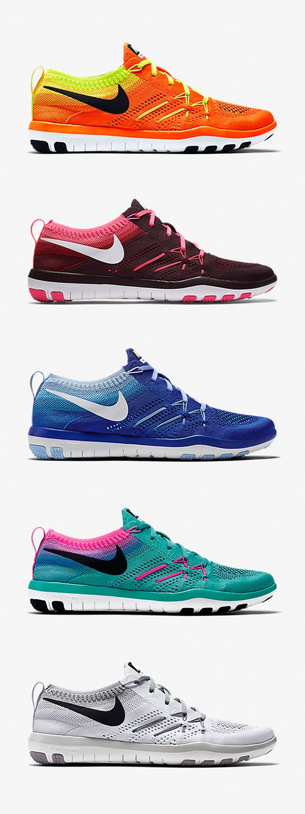 The breathable flexible Nike Free TR Focus Flyknit reps colors to