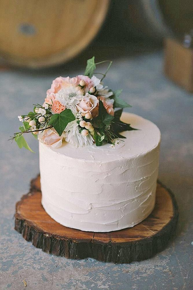 Photo of 30 Small Rustic Wedding Cakes On A Budget | Wedding Forward