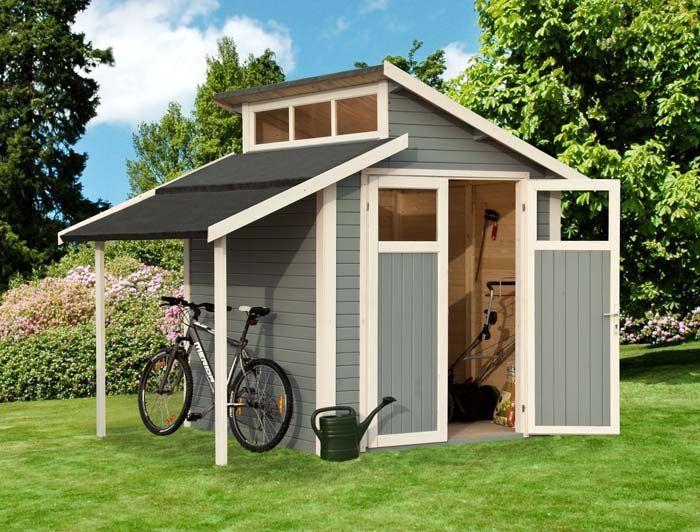 Abri de jardin look scandinave abris et garages de for Cabane jardin bois toit plat