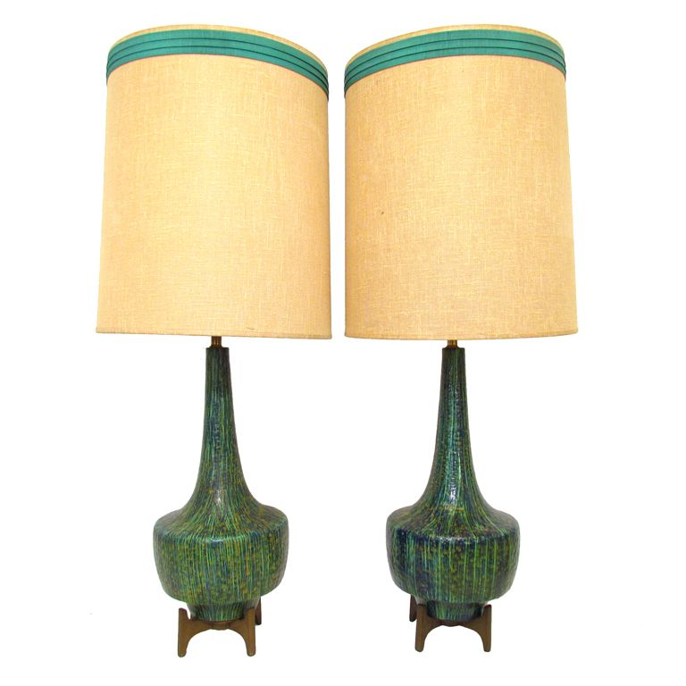 Perfect Pair Of Mid Century Modern Table Lamps Ca. 1960s