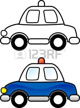 Policía de coches - para imprimir la página de colorear para los ...