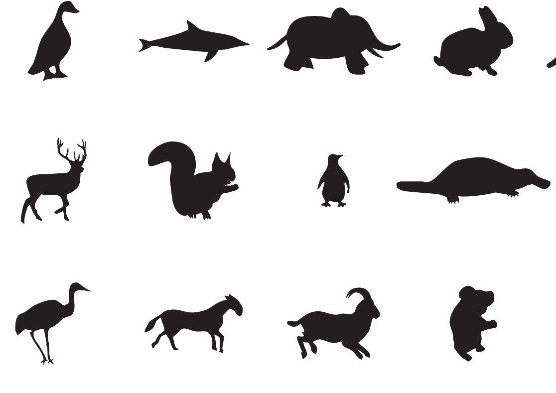 Dibujos De Siluetas De Animales Para Imprimir . Siluetas