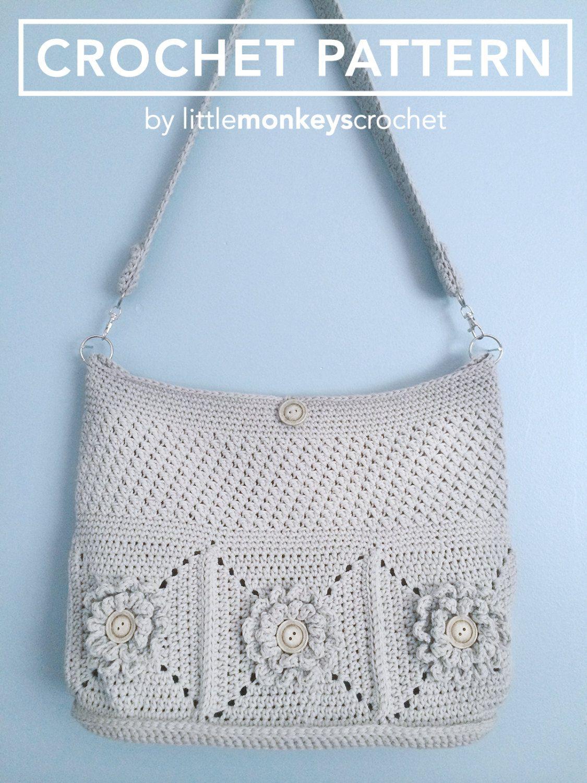 Crochet Purse Pattern, Shoulder Bag Crochet (The Wildflower Shoulder ...